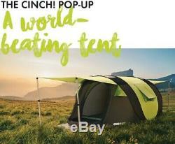 Cinch Pop-up 4-man Tente Tout Neuf, Plus Intelligent Du Monde Pop Up Tente