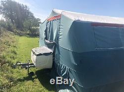 Classique, Toile Lourds, Grand 6 Places Trigano Tente Remorque Bon État