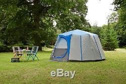 Coleman Cortes Octagon Tente De Famille 8 Personnes Bleue Camping De Luxe Glamping Grand