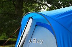 Coleman Cortes Octagon Tente De Famille 8 Personnes Bleue Glamping Camping De Luxe Grand