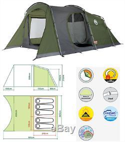 Coleman Da Gama 5 Places Personne Homme Festival Tente De Camping Familial