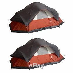 Coleman Red Canyon - Grande Tente De Camping En Plein Air Pour 8 Personnes De 17 X 10 Pieds (paquet De 2)