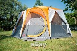 Coleman Tent Cortes Octagon, Tente De Festival Pour 8 Personnes, Grand Dôme Avec