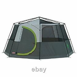 Coleman Tente Octagon, 6 À 8 Man Festival Dome Tent, Waterproof Family Camping