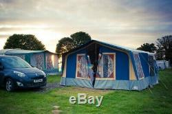 Conway Classique Grande Tente Remorque Bleu Et Orange 8 Places
