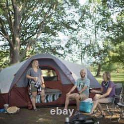 Core Dôme Étendu Tente 16 X 9 Pieds 9 Personne Camping Tente Avec Évents, Rouge