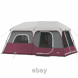 Core Instant Cabin 14 X 9 Foot 9 Person Cabin Tent With 60 Second Assembly, Rouge