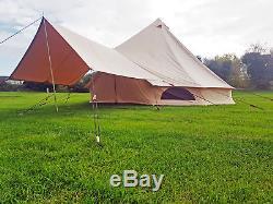 Couverture D'auvent D'auvent De Tente De Bell De Toile De Grand De 4x2 Mètres Pour Des Tentes De Bell