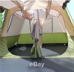 Double Couche Tente Trail 8-12 Personnes Cabine Instantanée Camping Famille Grand Randonnée