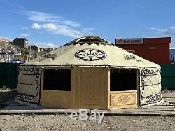 Double Porte Mongole Contemporaine Yurt- Et Grandes Fenêtres 8.60m De Diamètre
