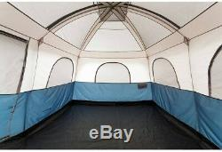En Plein Air Camping 2 Chambre Trail 14 X 10 Family Chalet Tente, Capacité D'accueil 10 Gris Bleu