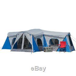 Extra Large 16 Famille Famille Spacieuse Extérieur Maison Tente Camp 3 Chambres Nouveau