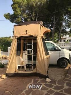 Extra Large Tente Toit 4 Man Avec Superbe Grande Échelle Awning Complète Tout Neuf