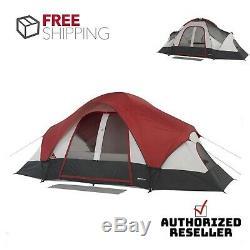 Famille Multi Chambre Tente De Camping 8 Personne Couverture Imperméable Extérieure Pluie Pare-soleil