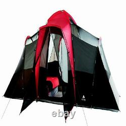 Family Camping Tent Outdoor Waterproof Stakes 3 Chambre 10 Personne Grande Taille Rouge