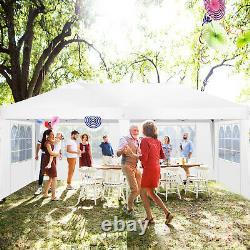 Gazebo Pop Up 3mx6m Imperméable Grande Tente Fête De Mariage Camping Gazebo Blanc Nouveau