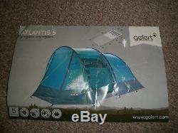 Gelert Atlantis 5 Tente Et Grand Porche Fin 2 Chambres Bleu Vgc