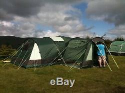 Gelert Horizon 8 Personne Tente Famille / Porche / Empreinte / Tapis Bundle