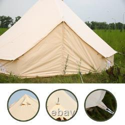 Glamping 6m Bell Tente Toile Imperméable À L'eau Party Mariage Grande Famille Tentes Britanniques