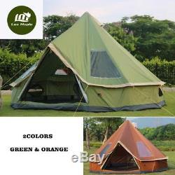 Glamping Camping Tente Voyage Randonnée Anti-moustique Soleil Abri Grande Tente Familiale