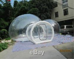 Gonflable De Qualité Commerciale Deux Chambres En Pvc Transparent Eco Dome Camping Bubble Tente Nouveau