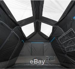 Grand 10 Personnes Tente Noir Blackout Fenêtres Camping En Plein Air Installation Facile Takedown
