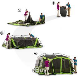 Grand 9 Personnes Imperméables Instant 2 Chambre Famille Camping Camping Sentier Ozark Extérieur
