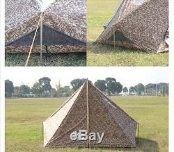 Grand Big 5 Personne Camping Armée Tente De Survie Militaire Famille Numérique Camouflage