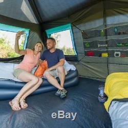 Grand Camping 10 Personne Tente Instantanée Chalet Famille Randonnée Étanche Extérieur