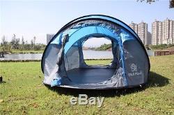 Grand Camping Extérieur Escamotable Pour Tente 3-4 Personnes Tente Instantanée Automatique Imperméable