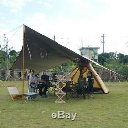 Grand Camping Yourte Double Couche Moustiquaire Jardin Extérieur Pêche Tentes Familiales