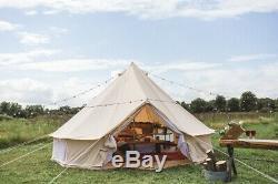Grand Espace De Tente En Toile Imperméable Yourte Bell Avec Tente Zippée De 5m Bell