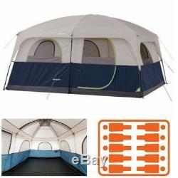 Grand Lit D'air De Hauteur De Fenêtre De Tente De Camping De Famille Toute La Saison Grand Stockage 10 Personnes