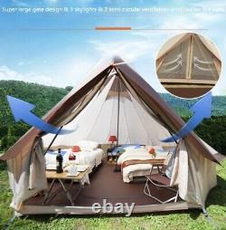 Grand Mongolia Yurt Tente Bell Tente Outdoor Waterproof Glamping Camping 4m