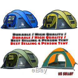 Grand Ultraléger Tente De Camping Extérieur Étanche Tente Automatique Dôme Pour La Randonnée