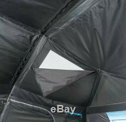 Grande Cabine Instantanée 10 Personnes Tente Noir Repos Blackout Fenêtres Camping En Plein Air