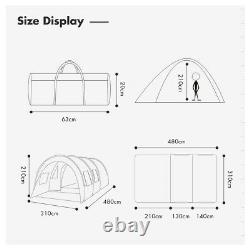 Grande Famille Du Royaume-uni Tente 8-10 Tentes Tunnel Personnes Camping Colonne Tente Imperméable