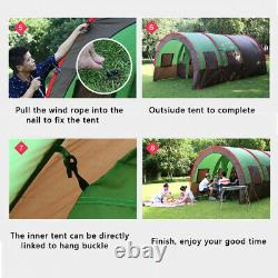 Grande Famille Du Royaume-uni Tente 8-10 Tentes Tunnel Personnes Camping Colonne Tente Waterproo