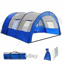 Grande Randonnée Voyage Camping Famille Imperméable Tente 6 Homme Gris Clair / Gris Foncé Au Royaume-uni