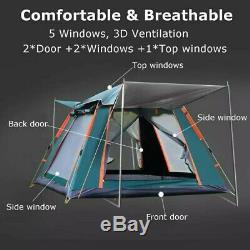 Grande Tente, 3-7 Personne Automatique Camping Tente Extérieure Ultralarge Grande Famille