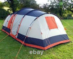 Grande Tente 6 Homme, Gris Et Orange, Flambant Neuf, Olpro Martley 2.0