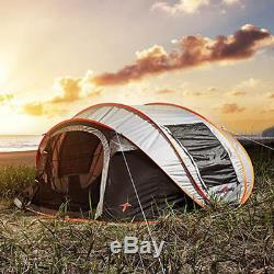 Grande Tente Automatique Ultra-légère Pour 5-8 Personnes, Étanche Au Vent, Pop Up Camping