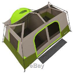 Grande Tente Cabine Instantanée Pour 11 Personnes Avec Chambre Privée, Camping En Plein Air