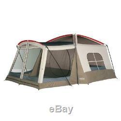 Grande Tente Camping 8 Personne Extérieure Avec Salle D'écran, 3 Saison 16 X 11 Pi. Brown