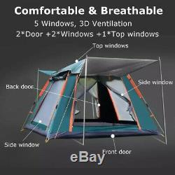 Grande Tente Camping En Plein Air Une Chambre 4-5 Personnes Famille Outing Waterproof
