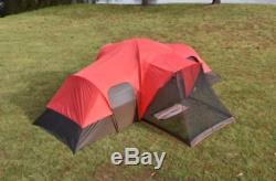 Grande Tente Camping Familiale Extérieure Rainfly Tentes Toutes Saisons 2 Chambres 10 Personnes
