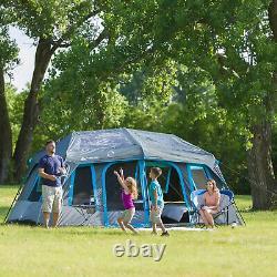 Grande Tente De Cabine Instantanée De 10 Personnes Dark Rest Blackout Windows Outdoor Camping