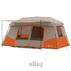 Grande Tente De Camping 11 Personnes Instant Pop Up Cabine Extérieure Famille D'abri De 3 Chambres