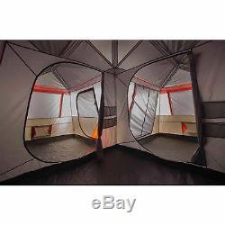 Grande Tente De Camping 12 Personnes, 3 Chambres, Rouge Instantané, 16'x16 ', Immense Rivière, Cabine Familiale
