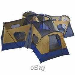 Grande Tente De Camping Camp De Base Pour 14 Personnes Entrée Fenêtre Rangement Randonnée Pédestre Énorme